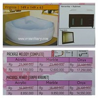 BATHTUB CORNER VIRGINIA (paket hemat)