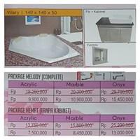 Jual Bathtub Corner VILARY (Paket Hemat)