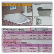 Bathtub Corner VILARY (Paket Hemat)