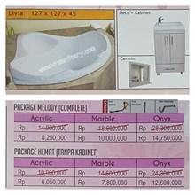 Bathtub Corner LIVIA (Paket Hemat)