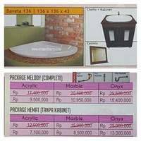 Jual Bathtub Corner DAVETA 136 (Paket Hemat)