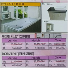 Bathtub long DIVA (paket hemat)