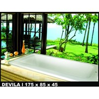 Jual Bathtub long DEVILA (paket hemat) 2