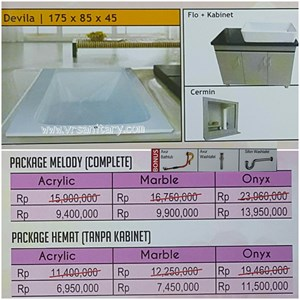Bathtub long DEVILA (paket hemat)