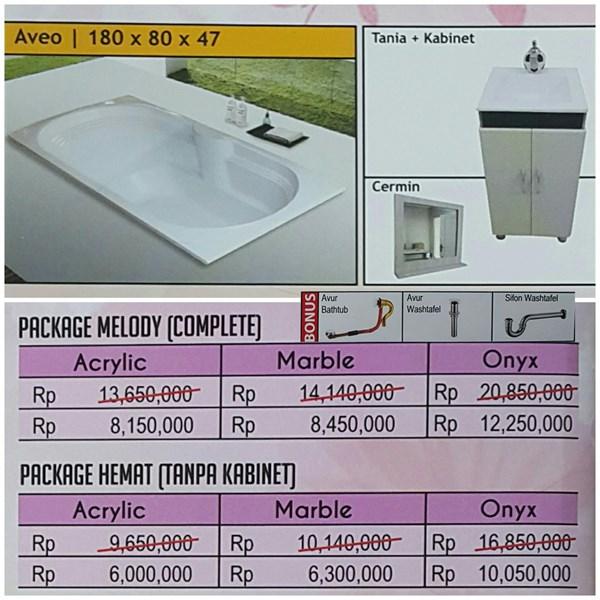 Bathtub long AVEO (paket hemat)