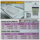 Bathtub long RAVELA (paket hemat) 1