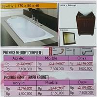 Bathtub Long BEVERLY (Paket Hemat)