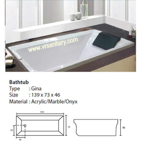 Bathtub Long GINA (Paket Hemat)