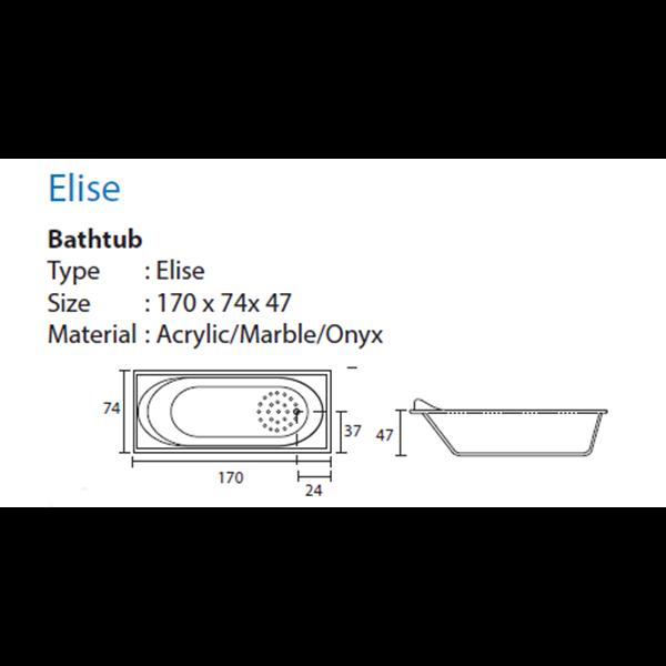 Bathtub Long ELISE (Paket Hemat)