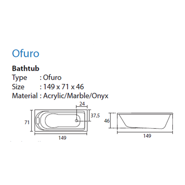 Bathtub Long OFURO (Paket Hemat)