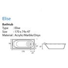 Bathtub long ELISE (paket murah) 4