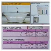 Bathtub standing SHELINA (Paket Hemat)