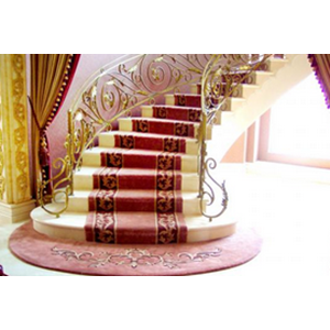 HANDTUFED WOOL CARPET STAIRCASE