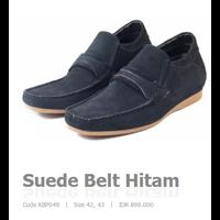 Suede Belt Hitam Code KBP049  1