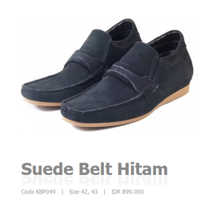 Suede Belt Hitam Code KBP049