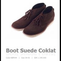 Sepatu Casual Suede Coklat Code Kbp044 1