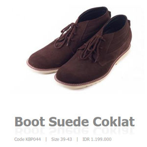 Sepatu Casual Suede Coklat Code Kbp044