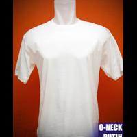 Kaos Polos Putih Pola Unisex 1
