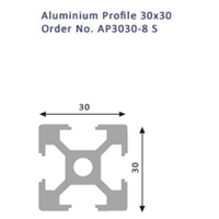 Jual Aluminium Profile 30X30 No.AP3030-8S 2