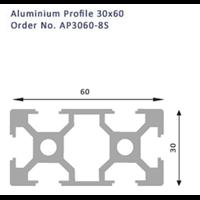 Jual Aluminium Profile 30X60 No.AP3060-8S 2