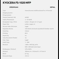 Jual KYOCERA FS-1020 MFP 2