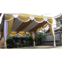 Rumbai Tenda Pesta Warna Gold