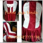 Sarung Kursi Custom Putih Merah 1