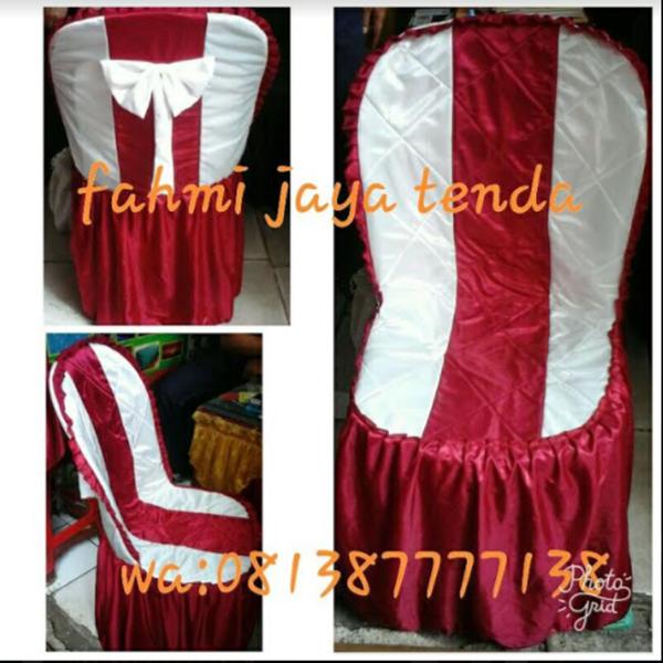 Sarung Kursi Custom Putih Merah