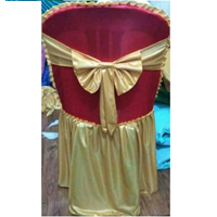 Sarung Kursi pakai pita warna Merah Gold 1