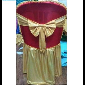 Sarung Kursi pakai pita warna Merah Gold