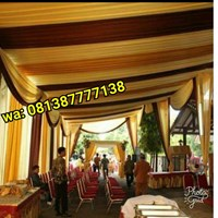 Plafon Tenda Pesta Variasi Warna Gold