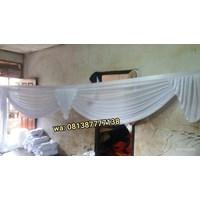Rumbai tenda variasi putih polos