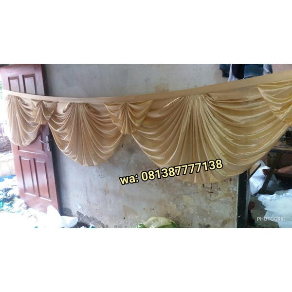 Rumbai Tenda variasi model kipas warna gold