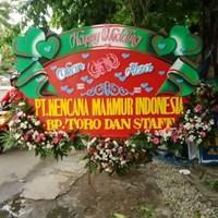 Distributor karangan bunga papan wedding bunga 3 titik 3