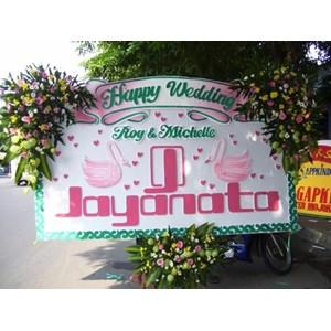 karangan bunga papan wedding bunga 3 titik