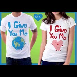 Kaos Couple I Give You My World And Love