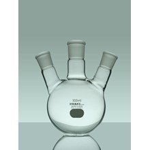 IWAKI Boiling Flask Round Bottom With Ts Joint 3 Neck