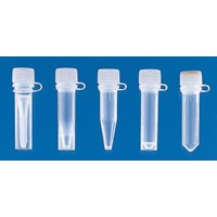 Microcentrifuge tubes PP with screw cap ungraduated 1