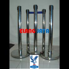 Pole Queue - Queue Boundary Poles - Pole Queue Stainless - Stainless Queue Boundary Poles - Queue Boundary Poles Bank - Q - Up S