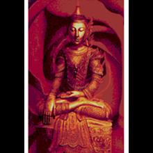 Lukisan Budha Mawar