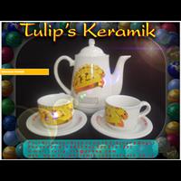 Jual COFFE SET ( TEKO - CANGKIR Dan PIRING TATAK) Mug Souvenir