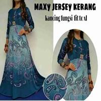 Jual Baju Muslim Maxy Jersey Kerang Kancing Fungsi Fit To XL