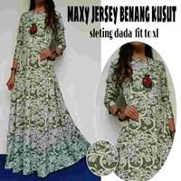 Jual Baju Muslim Maxy Jersey Benang Kusut Sleting dada Fit to XL