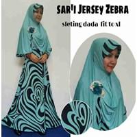 Jual Baju Muslim Sar'i Jersey Zebra Sleting dada fit to XL