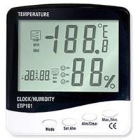 Alat Ukur Suhu Ruang 3 IN 1 Thermometer Hygro And Clock ETP101