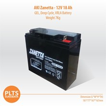 Zanetta Baterai Kering VRLA 100Ah Aki Solarcell