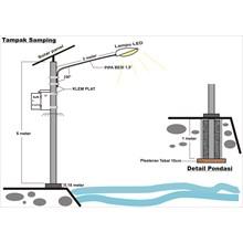 Lampu Jalan Solar Cell 50 Watt