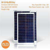 GH Solar Panel 30 Wp Poly 1