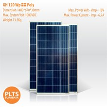 GH Solar Panel 120 Wp Poly