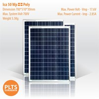 Jual ICA Solar Panel 50 Wp Poly